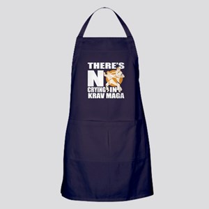 There Is No Crying In Krav Maga Apron (dark)