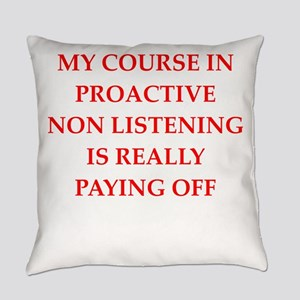 ignoring Everyday Pillow