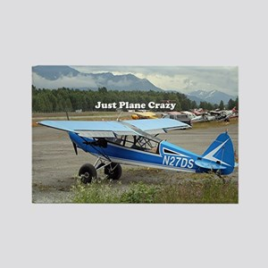 Just plane crazy: high wing aircr Rectangle Magnet