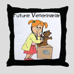 Future Veterinarian 2 Throw Pillow