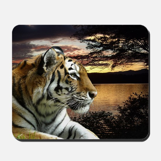 Sunset Tiger Mousepad