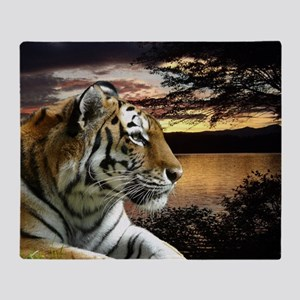Sunset Tiger Throw Blanket