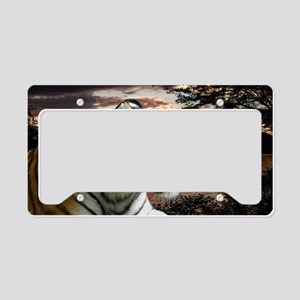 Sunset Tiger License Plate Holder