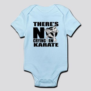 There Is No Crying In Karate Baby Light Bodysuit