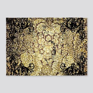 Vintage, wonderful damask 5'x7'Area Rug
