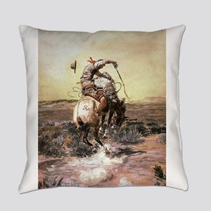 cowboy art Everyday Pillow