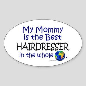Best Hairdresser In The World (Mommy) Sticker (Ova