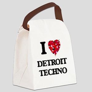 I Love My DETROIT TECHNO Canvas Lunch Bag