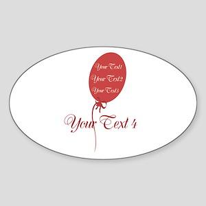 cute celebration Sticker (Oval)