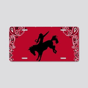 One Bucking Thing Aluminum License Plate