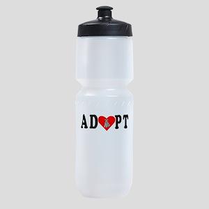 Adopt Kerry Blue Terrier Sports Bottle