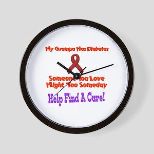 Grampa has diabetes Wall Clock