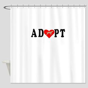Adopt Rhodesian Ridgeback Shower Curtain