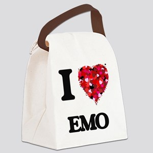 I Love My EMO Canvas Lunch Bag