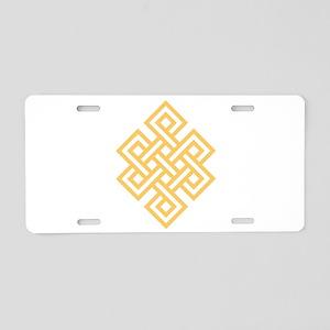 Endless Knot Aluminum License Plate