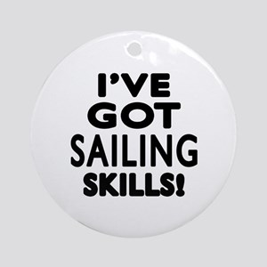 Sailing Skills Designs Round Ornament