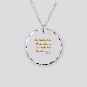 THE GOLDEN RULE - LUKE 7:31 Necklace Circle Charm
