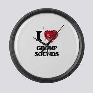 I Love My GROUP SOUNDS Large Wall Clock