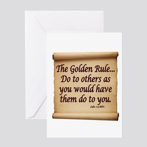 THE GOLDEN RULE - LUKE 7:31 Greeting Cards