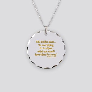 THE GOLDEN RULE - MATTHEW 7: Necklace Circle Charm