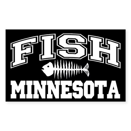 Fish Minnesota Rectangle Sticker
