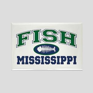 Fish Mississippi Rectangle Magnet