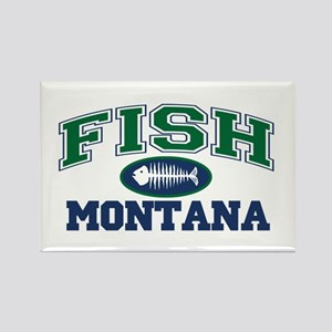 Fish Montana Rectangle Magnet