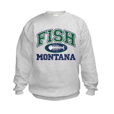 Fish Montana Kids Sweatshirt