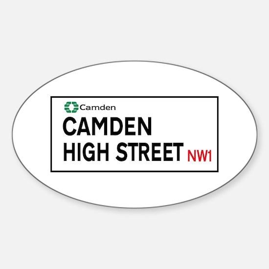 Camden High St, London, UK Sticker (Oval)