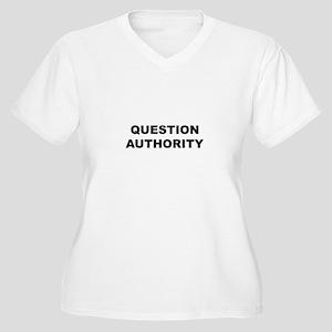 Question Authority Women's Plus Size V-Neck T-Shir