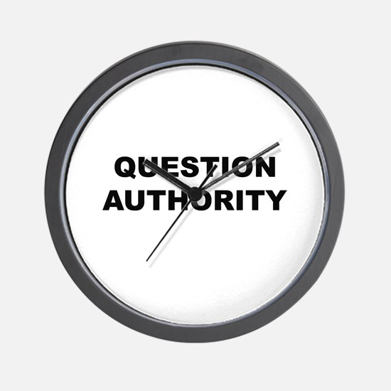 Question Authority Wall Clock