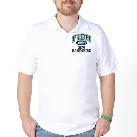 Fish New Hampshire Golf Shirt