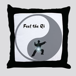 Feel the Qi Throw Pillow
