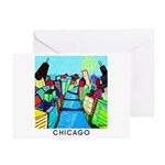 Chicago Riverview Greeting Cards (Pk of 10)