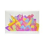 Chicago Skyline Rectangle Magnet (10 pack)