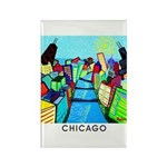 Chicago Riverview Rectangle Magnet (10 pack)