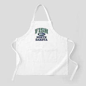 Fish North Dakota BBQ Apron