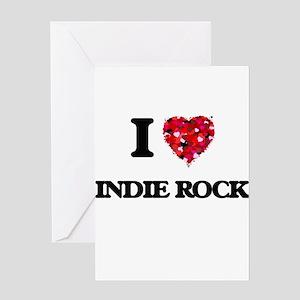I Love My INDIE ROCK Greeting Cards