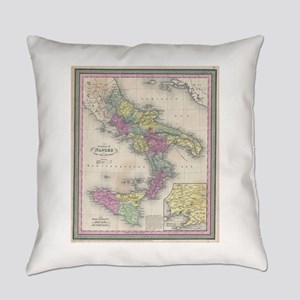 Vintage Map of Southern Italy (185 Everyday Pillow