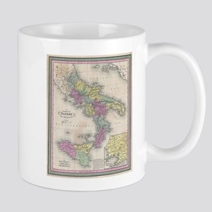 Vintage Map of Southern Italy (1853) Mugs