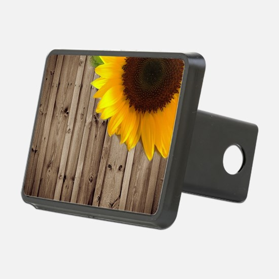 rustic barn yellow sunflow Hitch Cover