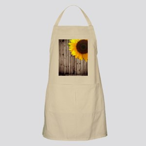 rustic barn yellow sunflower Apron