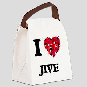 I Love My JIVE Canvas Lunch Bag