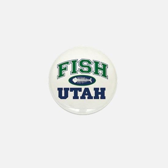 Fish Utah Mini Button
