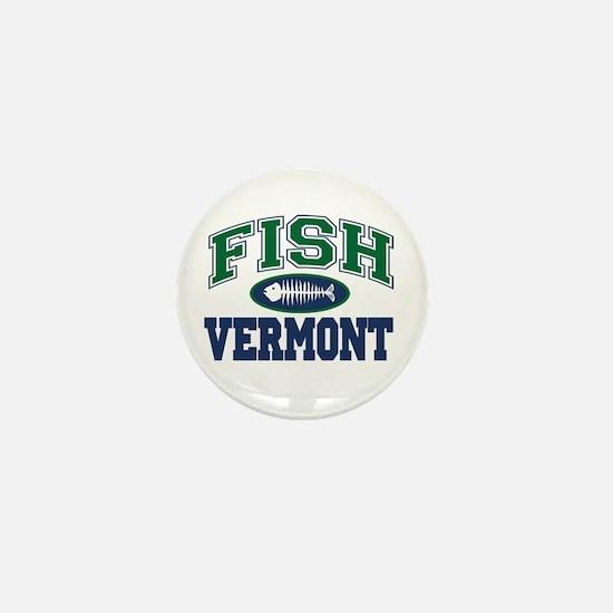 Fish Vermont Mini Button