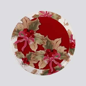 Holiday Holly Button