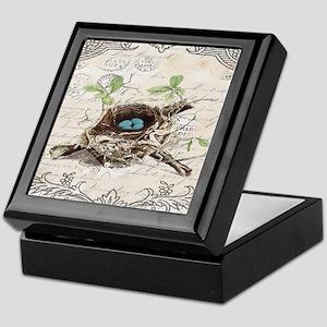 modern vintage french bird nest Keepsake Box