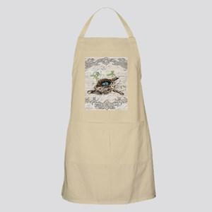 modern vintage french bird nest Apron