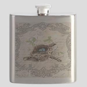 modern vintage french bird nest Flask