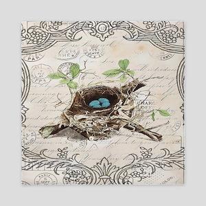 modern vintage french bird nest Queen Duvet